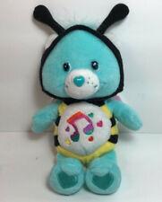 "Care Bear Heartsong Bear Bee Carebear Aqua Music Notes Rainbow Hearts Wings 8"""