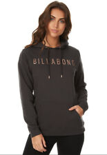 BILLABONG JUMPER LADIES SIZE WOMENS 14 NEW FLEECE HOODED HOODIE BLACK SWELLS UP
