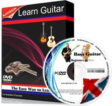 BASS GUITAR VIDEO FOR BEGINNERS ON DVD FREE POSTAGE