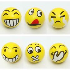 Kids Face Expression Squeeze Ball PU Hand Wrist Exercise Stress Relief Toys hv2n