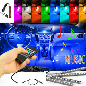 LEDSUV Decoración interior del coche Tira de luz de neón Control de música Color