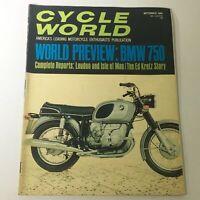 VTG Cycle World Magazine September 1969 - World Preview BMW 750 / Ed Kretz Story