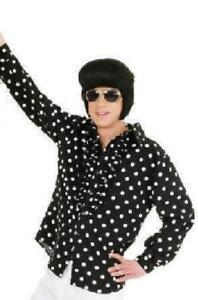 50er Jahre Rock`n Roll Hemd Kostüm Boogie Woogie Rockabilly Polka Disco Rüschen