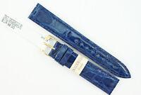 MORELLATO Uhrenarmband 18mm Echtes Krokodilleder Blau UVP: 92€ -50%