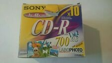 Sony CD-R 700MB x 10 Brand New Discs Boxed Recordable Labophoto Express Rom PC