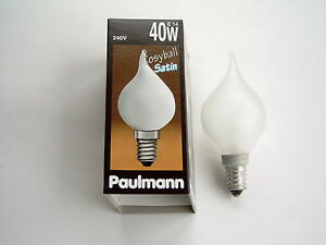5 St. Paulmann Windstoss Kerzenlampe Cosyball satin 516.40 40 Watt E14 240 V