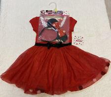 NWT Girls 3T Disney Junior Minnie Mouse Dress With Matching Headband NEW
