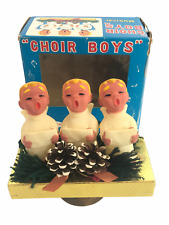 Vintage Brite Star Choir Boys Rotating Musical Music Box Japan, Christmas, Works