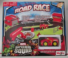 Marvel Super Hero Squad ROAD RACE Playset with 1 Diecast Iron Man Vehicle NEW