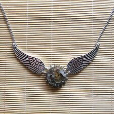 steampunk gothic punk rock necklace choker watch parts wings women girl jewelry