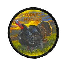 Turkey Hunter Patch Dye Sublimation Iron on Applique Handmade Edge Merrow