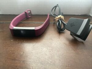 Fitbit Alta Fitness Wristband Activity Tracker Plum (Purple)