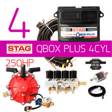 Full Fiat LPG Autogas Conversion kit 4 cylinders STAG Qmax Plus Pipes Tank