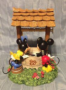 Vintage Rare Disney Walt's 100 Anniversary Mickey/Minnie Wishing Well Coin Bank
