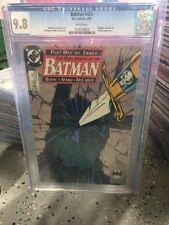 BATMAN 433 CGC 9.8 SILENT ISSUE-JOHN BYRNE-DC THE MANY DEATH OF THE BATMAN  P#1