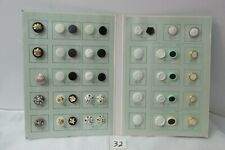 New listing Salesman's Sample Sewing Buttons (50) In Folder Shank and two button hole #33