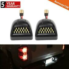 2x 3W 12V Front Rear LED License Plate Light White For Chevy Silverado Avalanche