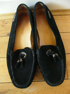 BEAUTIFUL RUSSELL & BROMLEY SUEDE LOAFERS SIZE 7 TASSLE VGC SUPERB LOAFERS