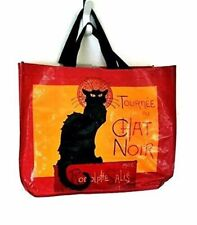 """Reusable Shopping Bag - """"Chat Noir""""  Generous Size"""