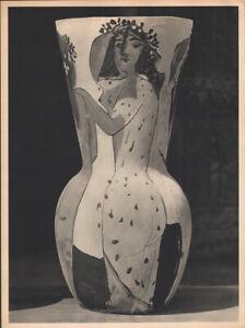 PABLO PICASSO - vase - woman  * rare HELIOGRAVURE * VERVE 1951