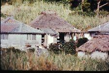 Org Photo Slide 1960's Vietnam war military Base soldier house home hut village