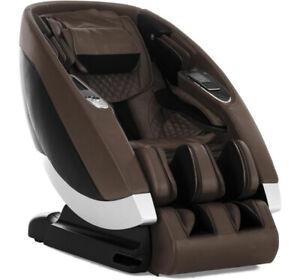 Espresso Human Touch Super Novo Zero Gravity 4D S L Track Massage Chair Recliner