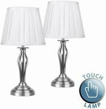 17030 Wrought Iron Touch Lamps x2 Satin Nickel finish touch lamp