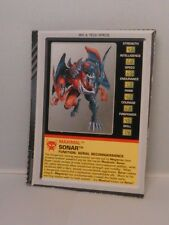 Transformers Beast Wars Transmetals 2 Sonar Figure Bio Card Part Bat Rare Animal