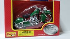 INDIAN 1:18 SCALE DIE CAST - SUPER CYCLE - GREEN - MAISTO - MIGHTY MOTORS NOS