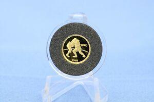 Mongolei 500 Tukhrik 1998 Sumoringer 1/25 oz - Unze 999 Gold *PP/Proof*