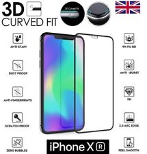 """For iPhone XR 6.1"""" 3D Curved Full Cover Screen Protector Tempered Glass Black"""