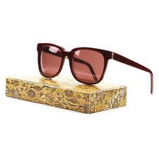 RETROSUPERFUTURE Super People Sunglasses SU812 Red Wine Golden Tapestry Print