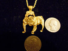 bling gold plated georgia bulldog mascot charm chain hip hop necklace jewelry gp