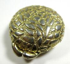 Vintage Houbigant Solid Perfume Compact Cobblestone Case Gold Tone