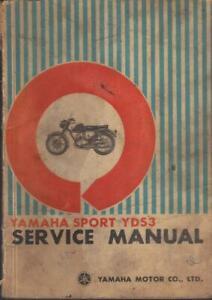 YAMAHA YDS3 250,TWO-STROKE,TWIN 1964,1965 ORIGINAL FACTORY WORKSHOP MANUAL