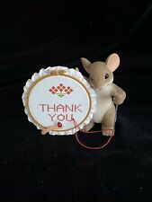 Enesco Charming Tails Mice Thank You Sew Much Thank you Ornament Dean Griff Nib