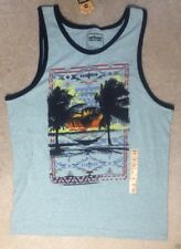 Urban Pipeline Young Men's Green/Blue Palm Tree Tank Top - Size L -NEW