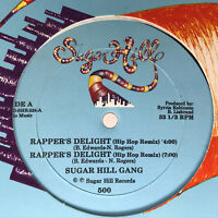 "Sugarhill Gang Rapper's Delight Vinyl Record Rare Hip Hop Remix 12"" 1989"