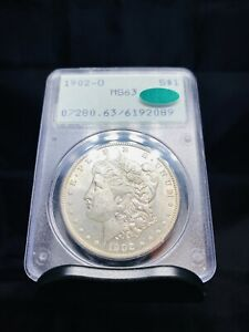 1902 O Morgan Silver Dollar PCGS MS63 CAC Old Rattler Holder OGH