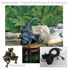 Pond Pump Gargoyle Frog Garden Pond Fountain Garden Figure Frogs