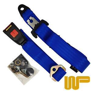Classic Mini Rear Static Seat Belt In Blue 200BLUE