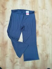M&S Collection Slate Blue Active Wear Trousers Size 20 S BNWT Loose Leg