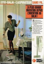 Publicité advertising 1987 Aspirateur Spir-Balai de Black & decker