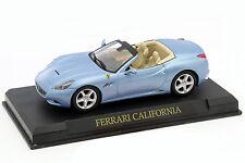 Ferrari California année de construction 2008 bleu clair métallique 1:43 Altaya