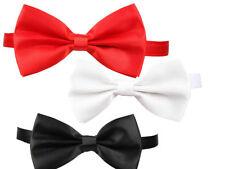 Satin Bow Tie Showtime Mens Ladies Fancy Dress Accessory 3 Colours