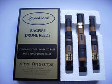 Ezeedrone Bagpipe Drone Reeds with Inverted Bass.