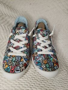 Bobs from Skechers Womens Colorful Dogs Sneakers Memory Foam WOOF PACK Size 7