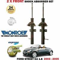 Per Ford Street Ka 1.6 2003-2005 Nuovo 2X Anteriore SX + Dx Ammortizzatori Set
