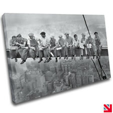Lunch atop a Skyscraper New York CANVAS Wall Art Picture Print