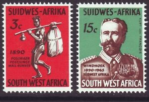South West Africa 1965 SC 300-301 MH Set Postal Service 75th Anniversary